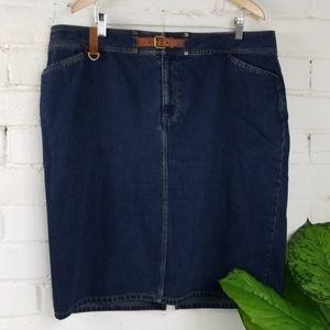 Lauren Jean's Co. Denim Jean's Skirt Womens 18